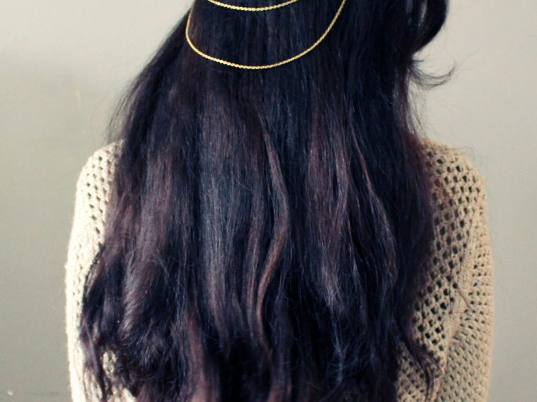 Make This simple Hair Chain with this step by step DIY