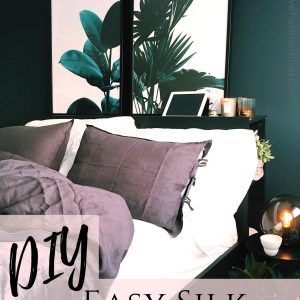 Make a DIY Silk Pillowcase Cover with this step by step tutorial..