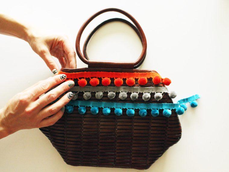 Pom Pom Basket Purse DIY Tutorial