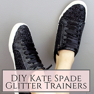 DIY Kate Spade inspired Glitter Trainers