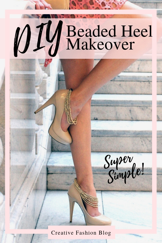 Makeover your heels with jewelry straps for a chic shoe refashion