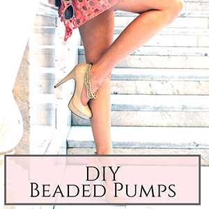 DIY beaded pumps