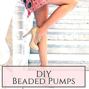 DIY beaded pumps