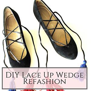 Lace Up Shoe Refashion