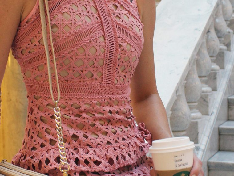 Pink dress by Borrowed By Design