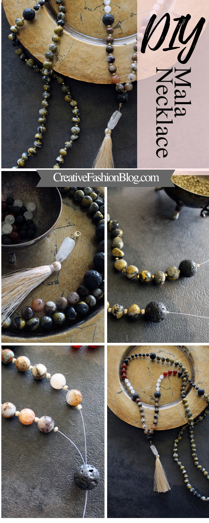 Make Your Own DIY Crystal Mala Beads for Meditation and Goal Setting..