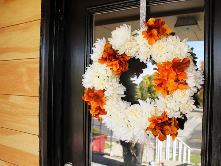 DIY Five Minute Fall Wreath Tutorial