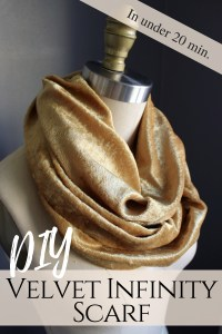 DIY this Velvet Infinity Scarf Fall Accessory