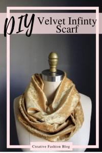 DIY this simple sewing tutorial Velvet Infinity Scarf handmade christmas gift