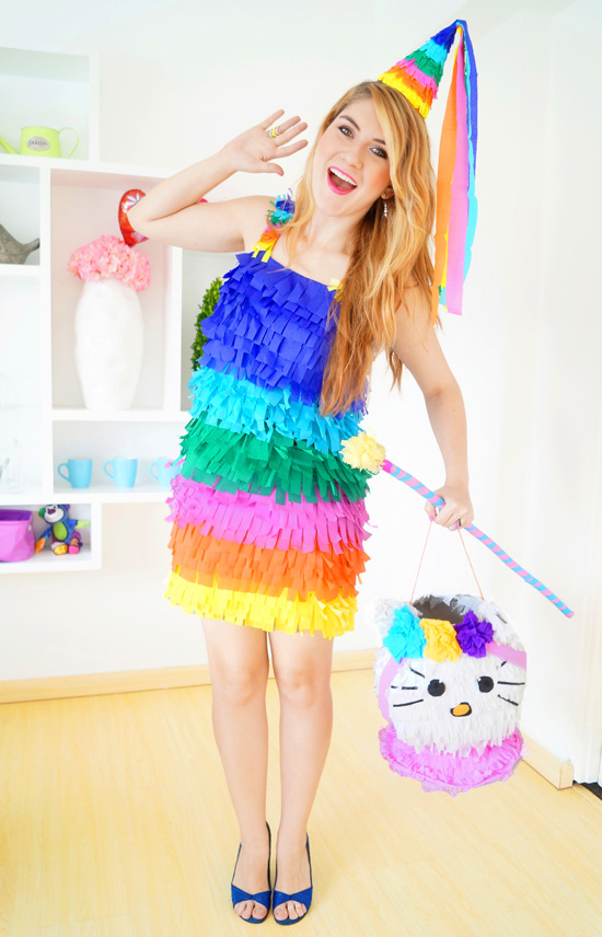 Easy DIY Halloween Costumes for women. Make a pinata costume