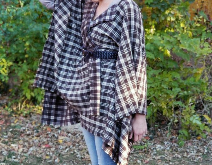 Make a no sew blanket jacket in under 20 minutes