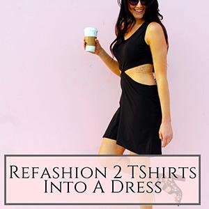 2 tshirt dress refashion