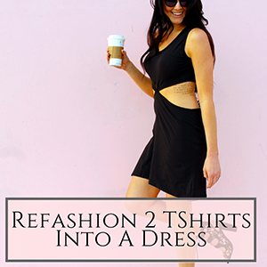 2 tshirt dress refashion