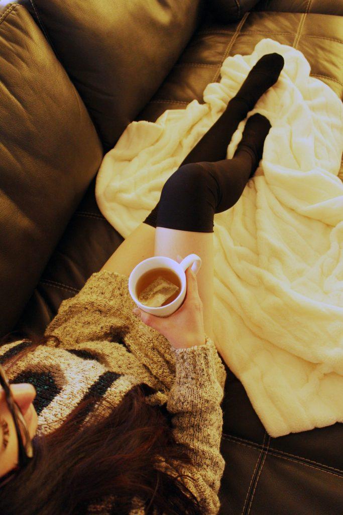 DIY Black Thigh High Socks from scratch