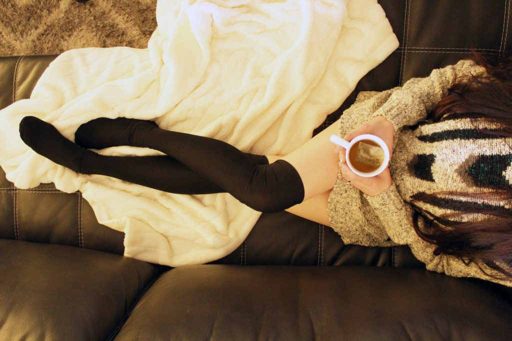 DIY sock sewing pattern Black Thigh High Socks from scratch!
