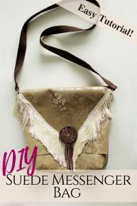 DIY Boho Messenger Bag from scratch easy sewing tutorial