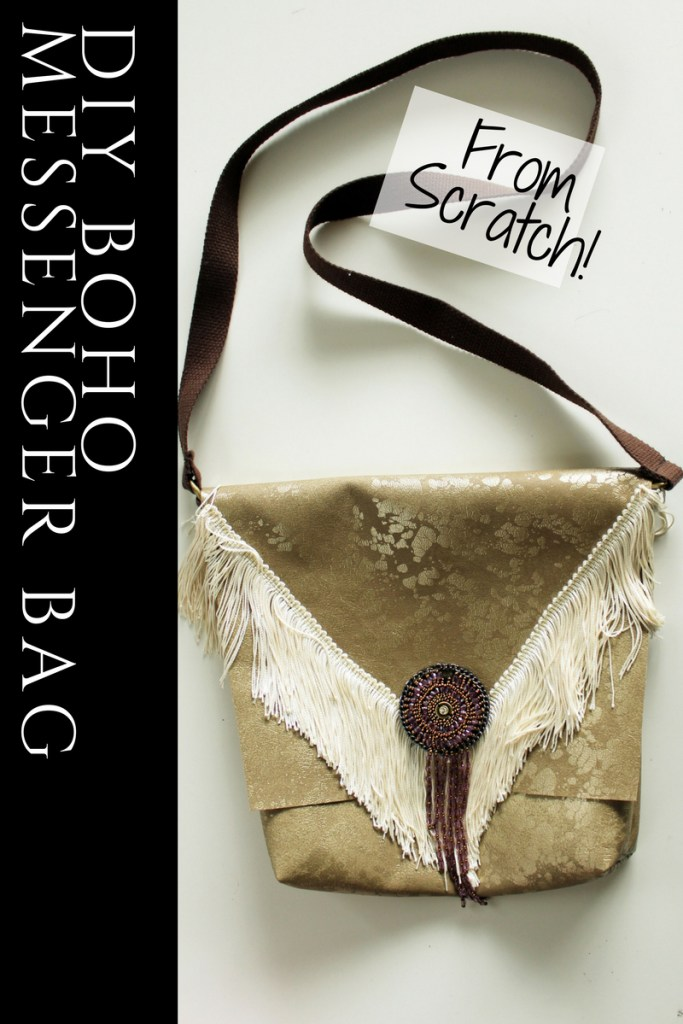 DIY Boho Messenger Bag from scratch tutorial