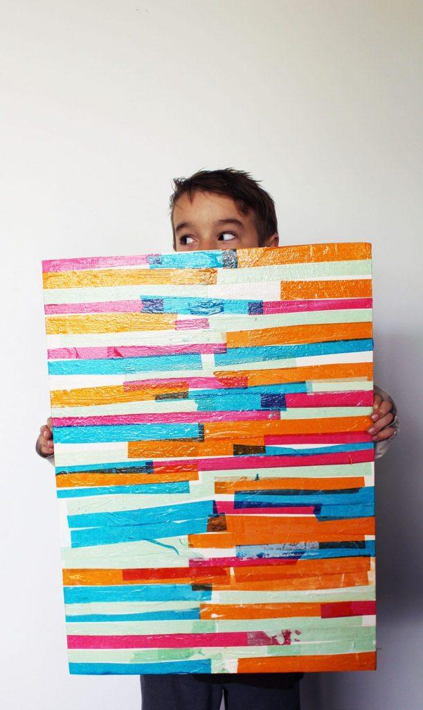 DIY Tissue Paper Art Prroject