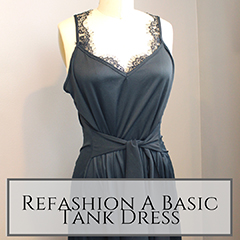Refashion a basic tank dress small