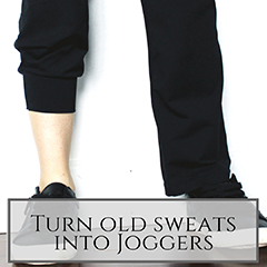 Turn Old Sweats Into Joggers small