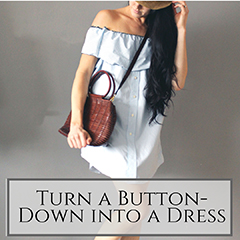 button down to dress small