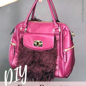 diy fur purse upcycle