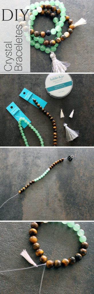 DIY Stone Bracelets . Healing Crystals for jewelry making .