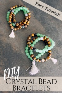 DIY Stone Bracelets . Healing Crystals for jewelry making tutorial