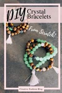DIY Stone Bracelets Healing Crystals for jewelry making