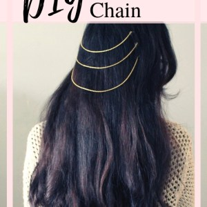 DIY a boho Hair Chain with this easy tutorial