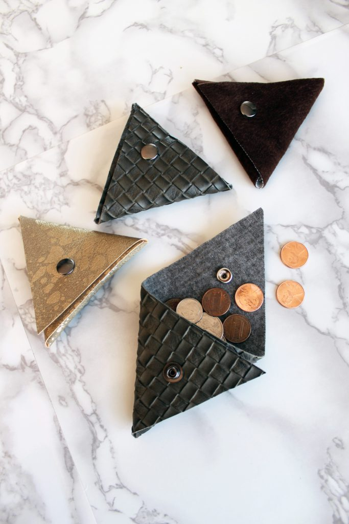 How To Make A Small Triangle Coin Pouch - FREE Printable pdf Pattern Included