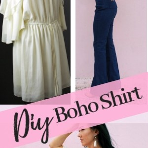 Refashion A baggy Dress to A statement Boho Shirt .