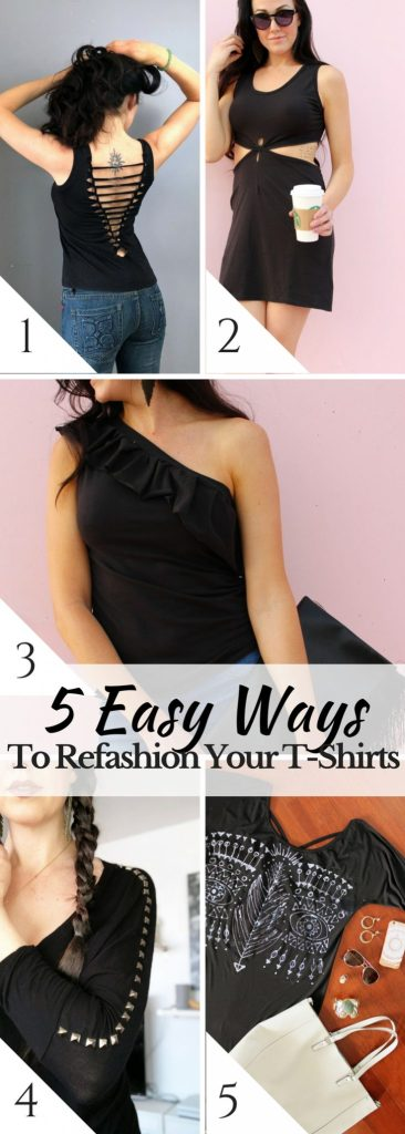 5 Easy ways to refashion your tshirts