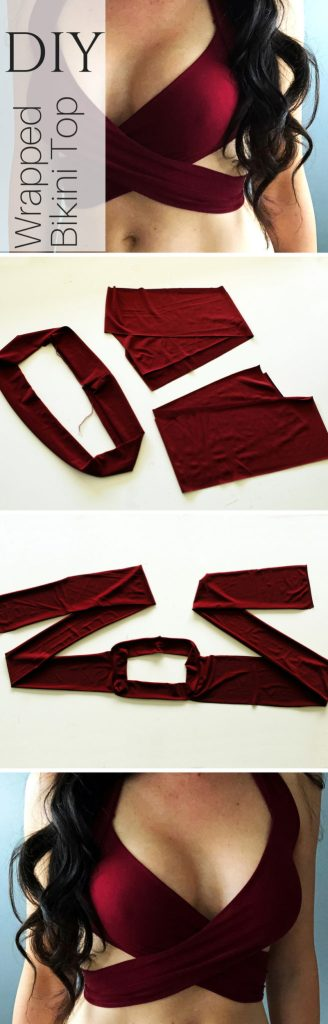 How to sew a wrap swimsuit bikini