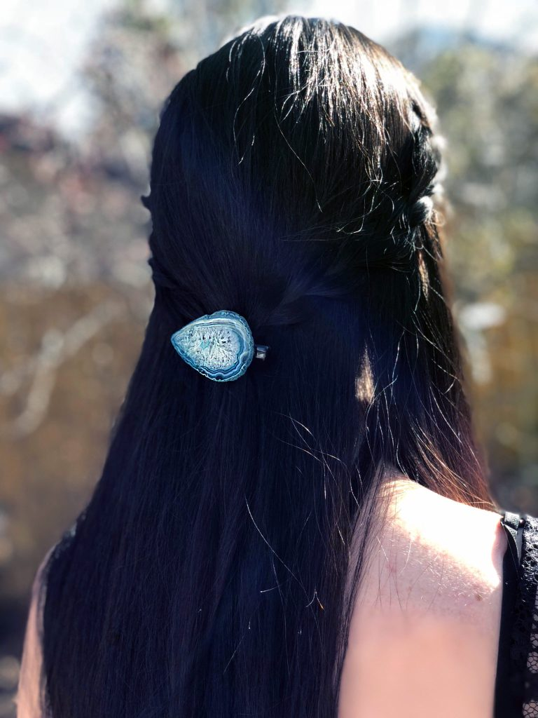 Make a DIY Agate Hair Pin