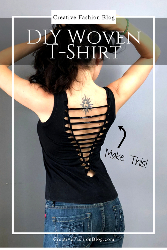 Refashion a basic tee shirt with this easy weave tutorial DIY .