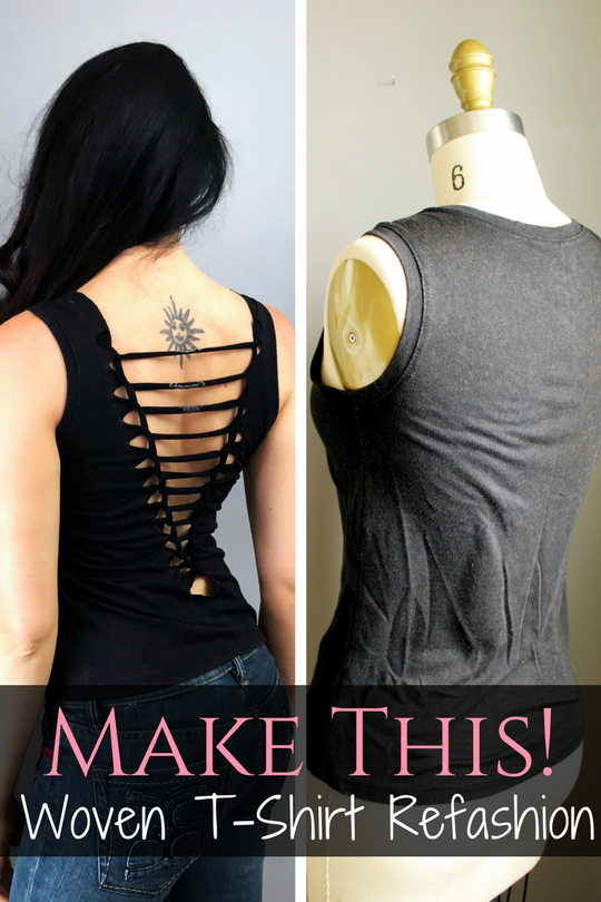 Refashion a basic tshirt with this easy weave tutorial DIY .