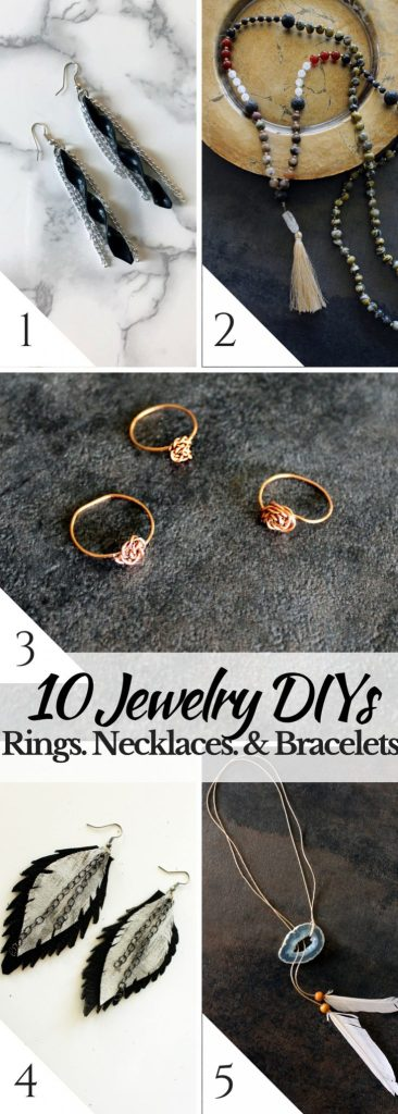 10 easy jewelry DIYs to make your own rings bracelets and necklaces