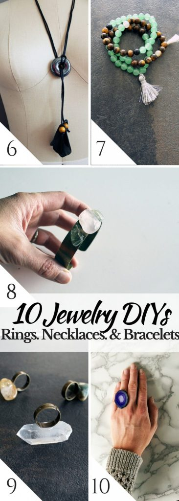 10 easy jewelry making DIYs to make your own rings bracelets and necklaces