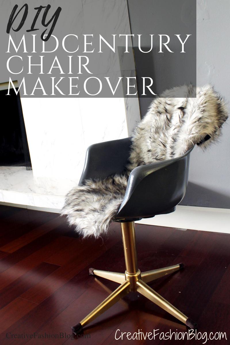 DIY Midcentury Modern Chair Makeover full Tutorial ..