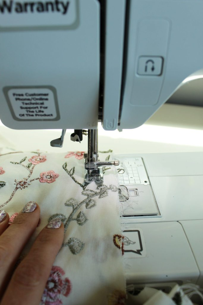 DIY floral tunic dress for summer sewing tutorial..