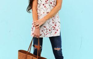 DIY floral tunic for summer an easy sewing project