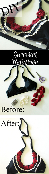 Swimsuit refashion easy DIY idea....