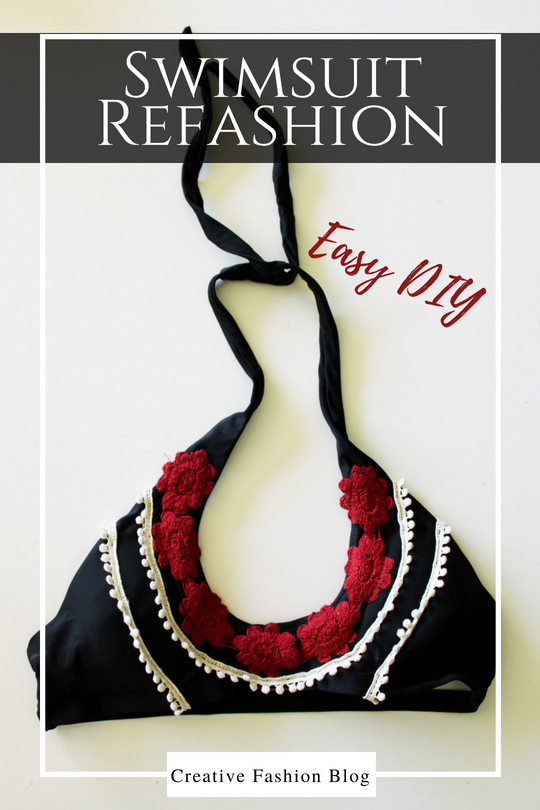 Swimsuit refashion easy DIY idea..