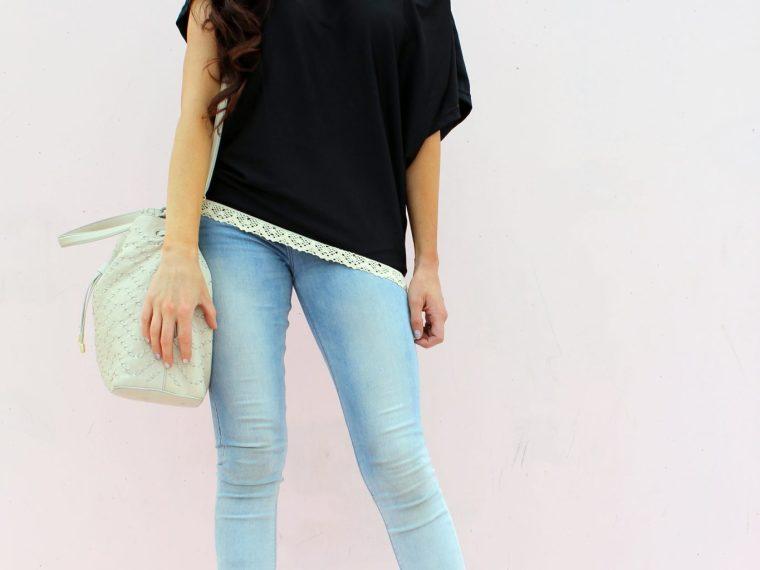 diy refashion shirt tutorials with lace embellishments