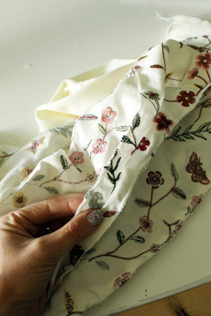 how to make a DIY floral tunic dress for summer . a sewing project