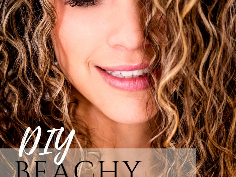 DIY Beach Waves Texturizing Spray tutorial
