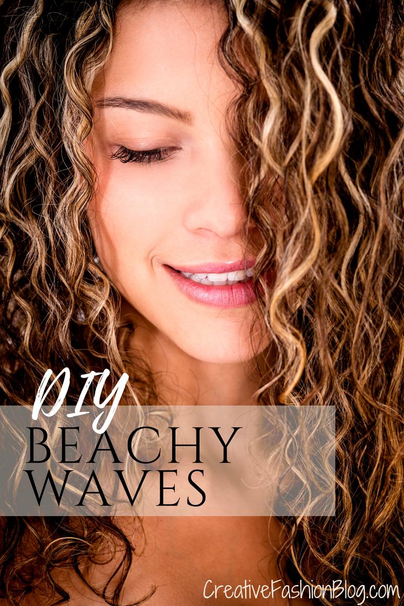 DIY Beach Waves Texturizing Spray tutorial