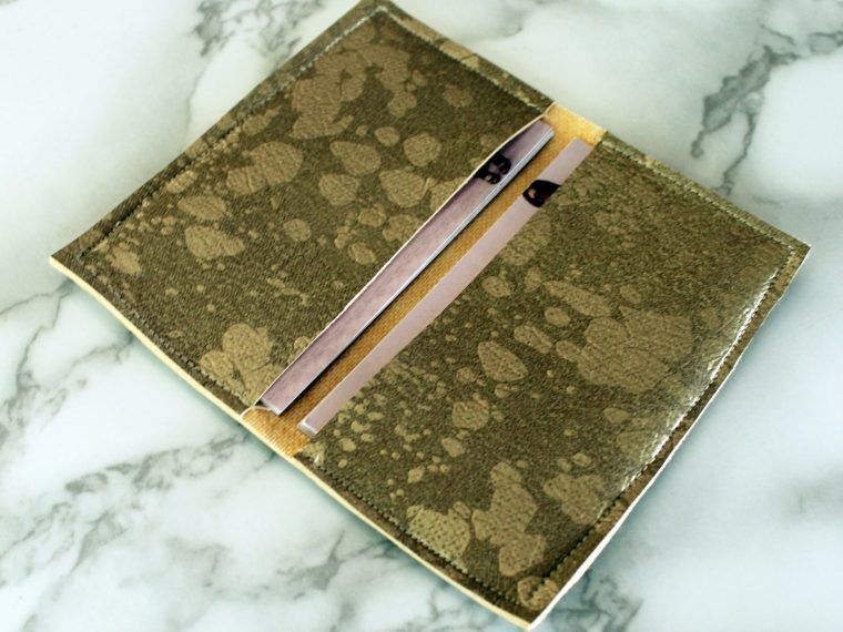 DIY faux leather Business Card Holder Wallet tutorial with printable pdf pattern..