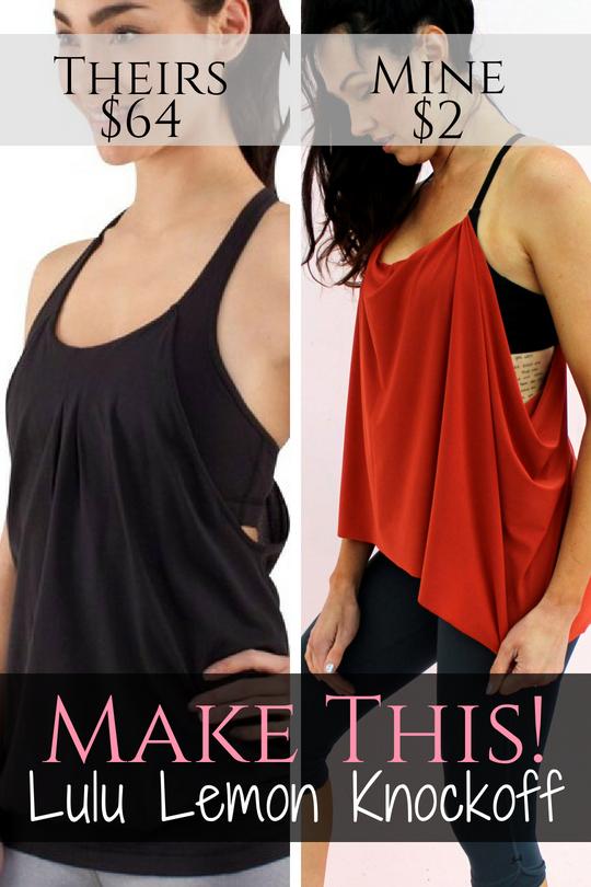 diy workout shirt tutorial . lulu lemon knockoff bra refashion..